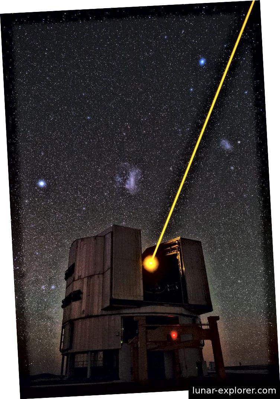 Yepun, das vierte 8,2 Meter lange Einheitsteleskop der Very Large Telescope (VLT) -Einrichtung (Tafreshi)