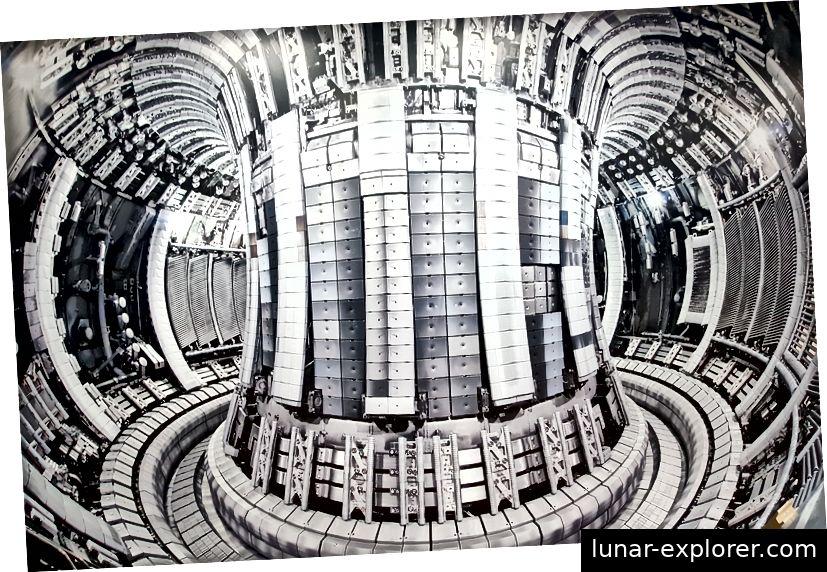 Innenraum des JET. Bild aus dem CCFE-Empfangsbereich.