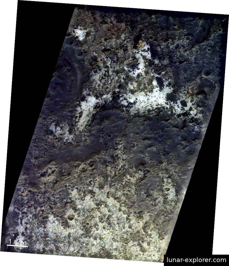 Der Abflusskanal des Mawrth Vallis auf dem Mars verfügt über eine reichhaltige Mineralienvielfalt, die hier in unterschiedlichen Farben dargestellt ist. Dieses Bild wurde am 5. Januar 2019 von TGO aufgenommen. Bildnachweis: ESA / Roscosmos / CaSSIS