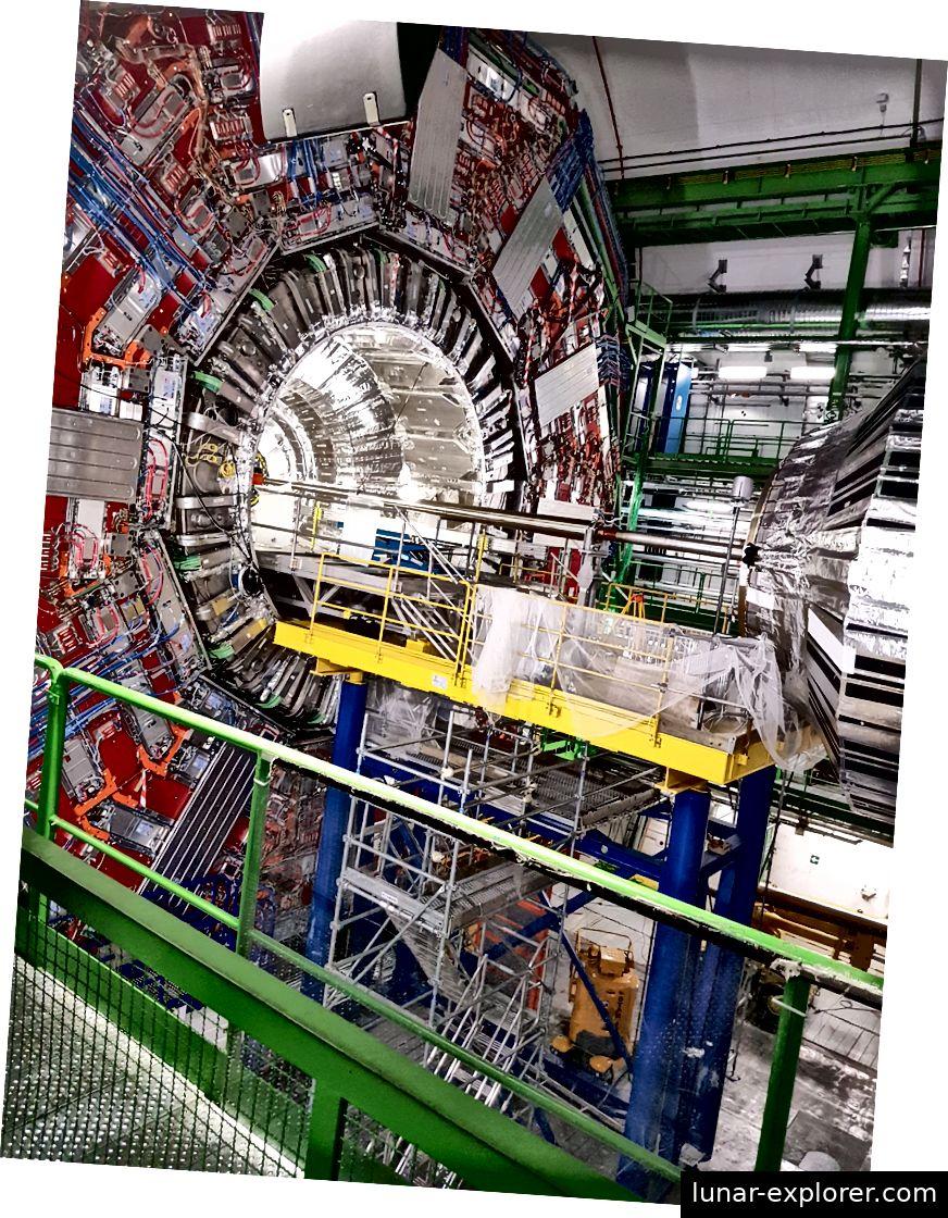 Innenraum des CMS-Detektors.