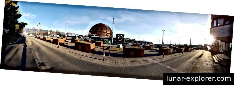 Blick vom CERN-Empfang des