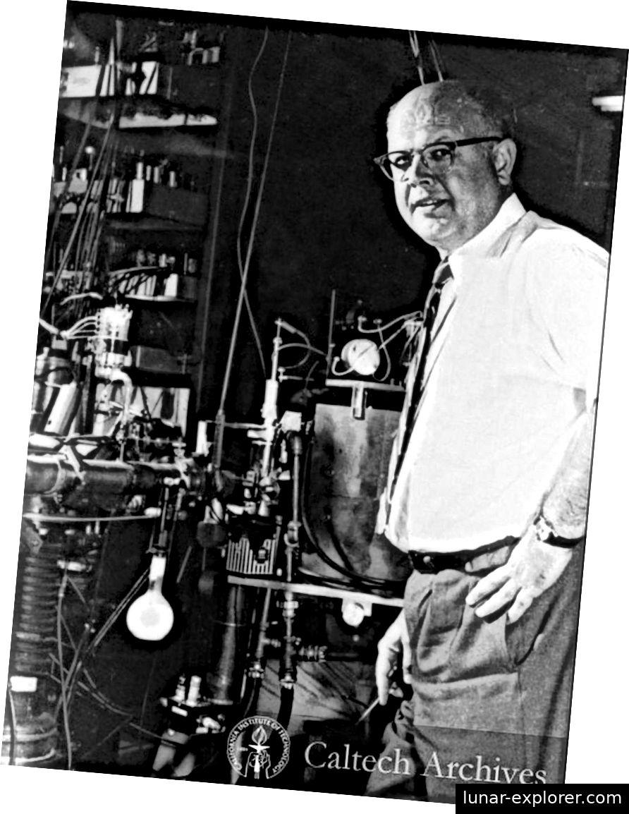 Willie Fowler in der W.K. Kellogg Radiation Laboratory bei Caltech, das die Existenz des Hoyle-Staates und den Triple-Alpha-Prozess bestätigte. (CALTECH ARCHIV)