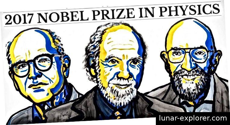 Nobelpreisträger für Physik 2017: Rainer Weiss, Barry C. Barish und Kip S. Thorne