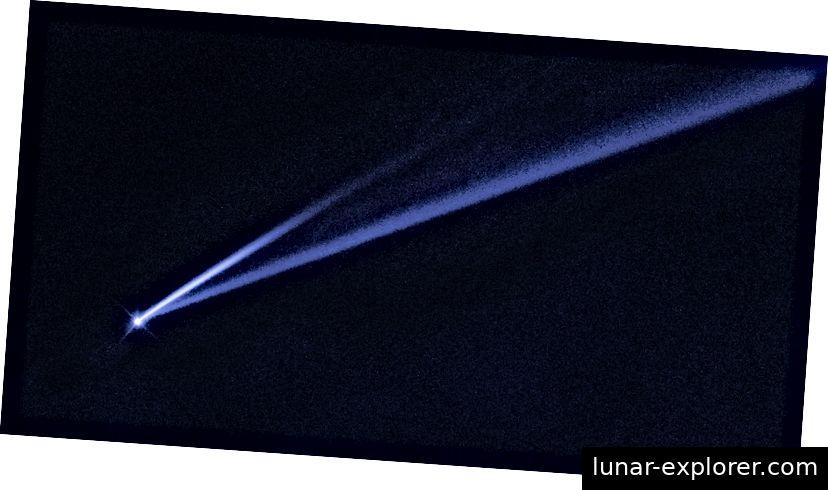 Asteroid oder Komet? Finde es unten heraus. Foto: NASA, ESA, K. Meech und J. Kleyna (Universität von Hawaii) und O. Hainaut (ESO)