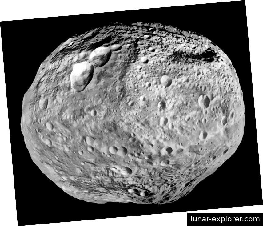 Vesta hat eine felsige äußere Hülle und einen Kern aus Eisen und Nickel, was darauf hindeutet, dass es sich eher um einen unförmigen Planeten handelt als andere Asteroiden Foto: NASA / JPL-Caltech / UCAL / MPS / DLR / IDA