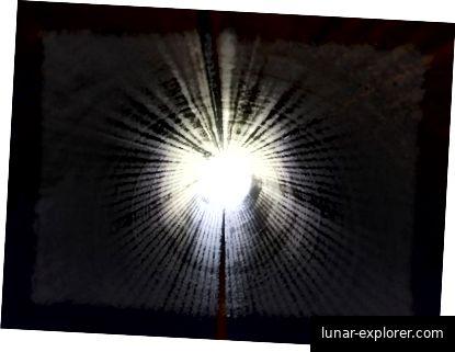 Helles Licht kann aufgrund des Sauerstoffverlusts im Auge möglicherweise zu NTEs führen