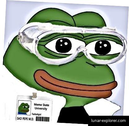 Pepe ist bereit, Meme zu studieren, oder?