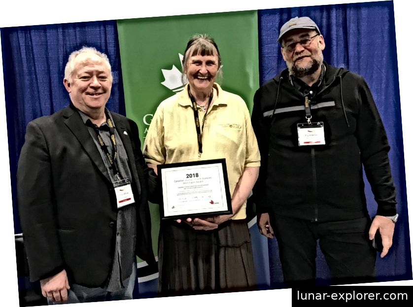 Drs. Chris White, Sandra Barr und Ulf Linnemann erhielten die Auszeichnung am 13. Mai auf der Konferenz der Geological Association of Canada in Quebec City.