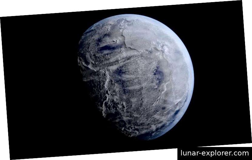 Während das Snowball Earth-Szenario möglicherweise umstritten ist, sind die Details zweifelhaft, nicht die Gesamtwirkung. In der fernen Vergangenheit war der Beweis überwältigend, dass die tropischen Breiten der Erde größtenteils mit Eis bedeckt waren. Die Huroneneiszeit mag das größte Massensterben in der Geschichte der Erde gewesen sein, während eine neuere Eiszeit, die vor 600 bis 700 Millionen Jahren stattfand, möglicherweise den Weg für die kambrische Explosion geebnet hat. (KEVIN GILL / FLICKR)