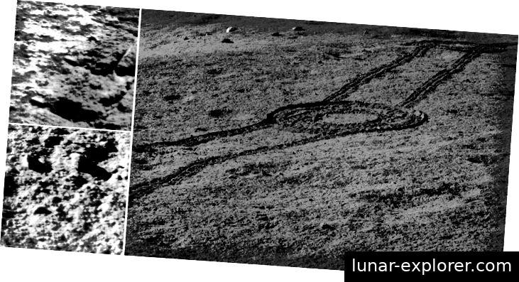 Bilder der Mondoberfläche, aufgenommen von der Raumsonde Chang-e 4. Bildnachweis: NAOC / CNSA