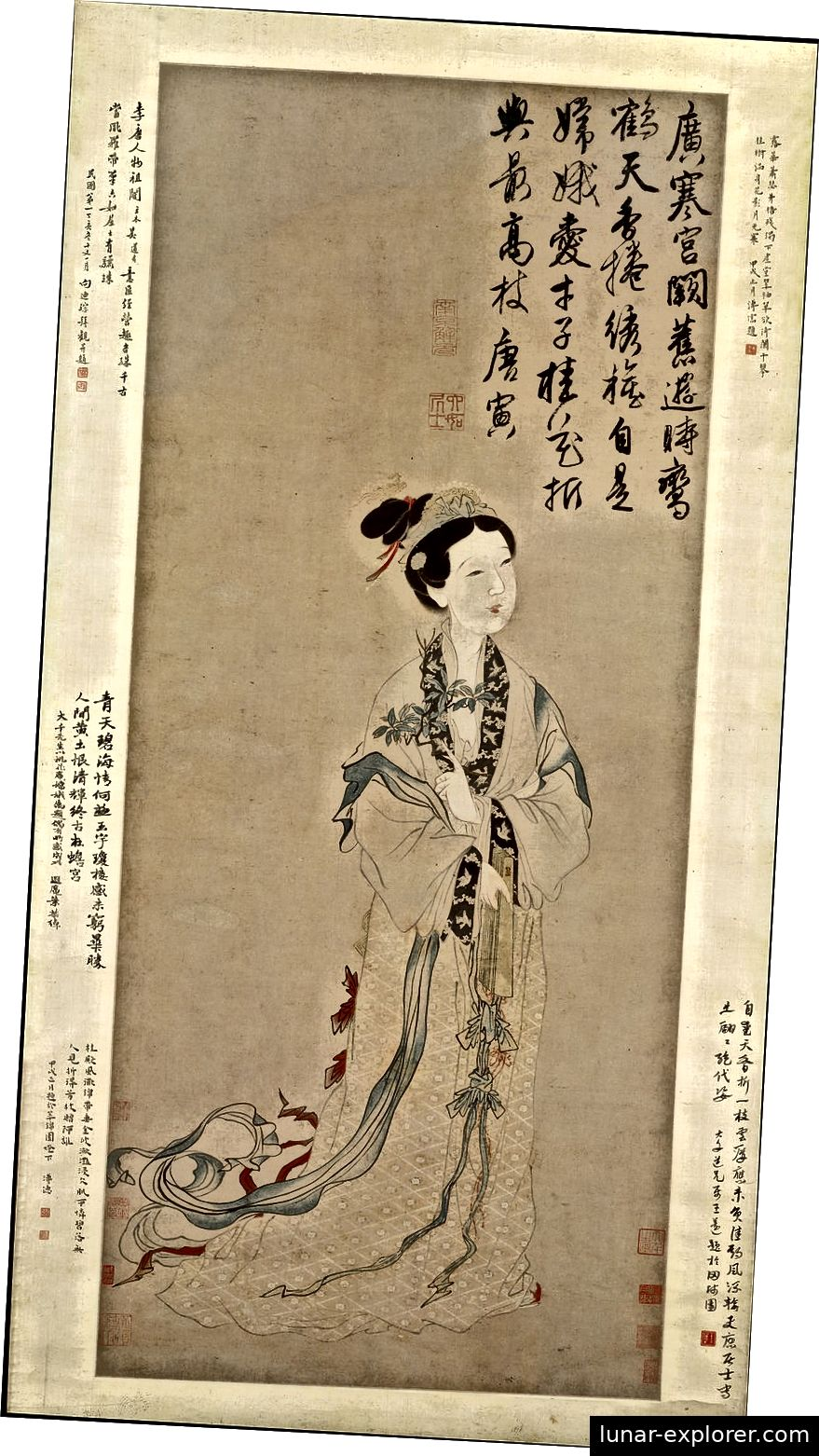 Chang-e, die chinesische Mondgöttin, erreichte im 21. Jahrhundert ihr Zuhause (zumindest namentlich). Public Domain Bild