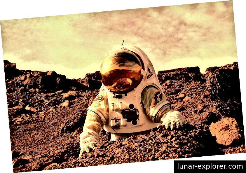 Wenn Menschen den Mars bevölkern wollen, müssen wir entweder Luft mitbringen oder für immer in Kolonien und Raumanzügen gefangen sein. Bildnachweis: NASA