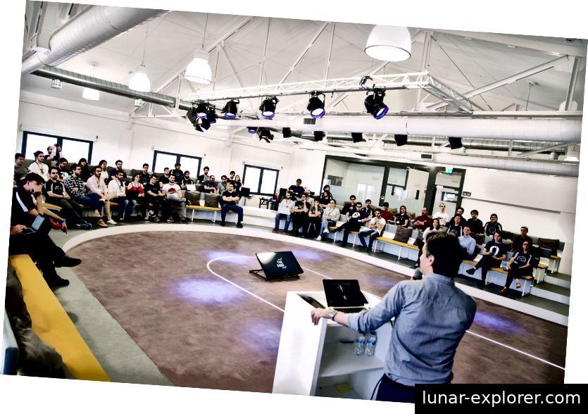 Der hier abgebildete CUBE diente als Austragungsort des Hackathon-Events (Foto von Paul Searle)