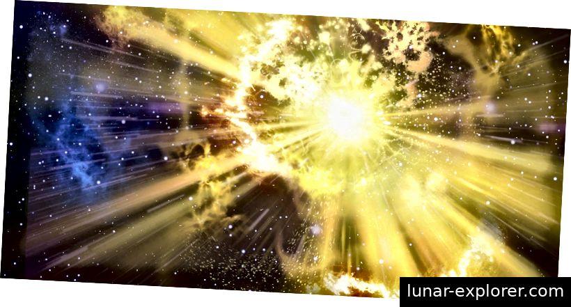Supernova-Explosionen können ganze Galaxien monatelang überstrahlen. Public Domain Bild