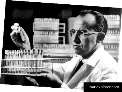 Dr. Gey (Röhrchen mit HeLa-Zellen)