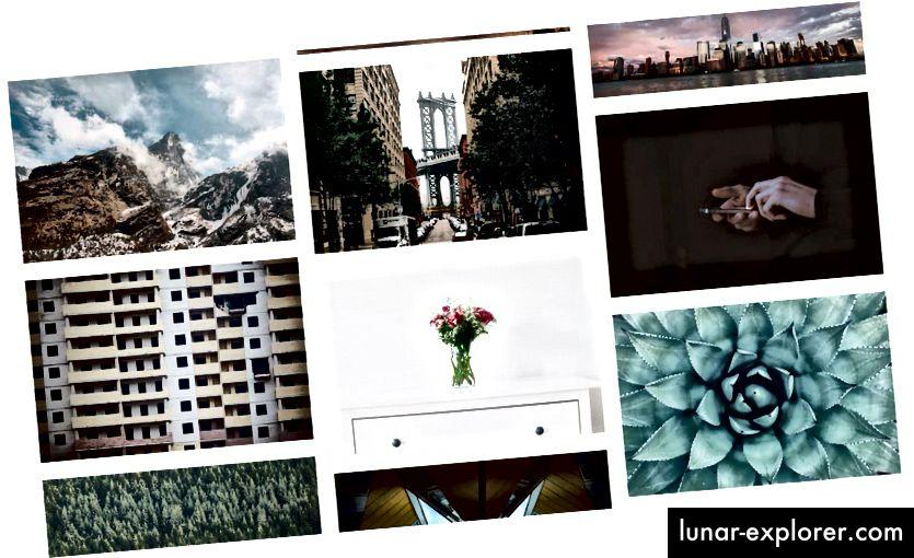 Ein Beispiel einiger Bilder von Unspash - alles kostenlos!