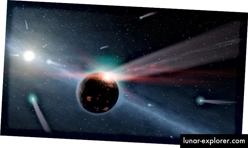 Eine Illustration eines sehr jungen, staubigen Sterns, die an das erinnert, wie unser Sonnensystem in den Kinderschuhen ausgesehen haben mag. Bildnachweis: NASA / JPL-Caltech.