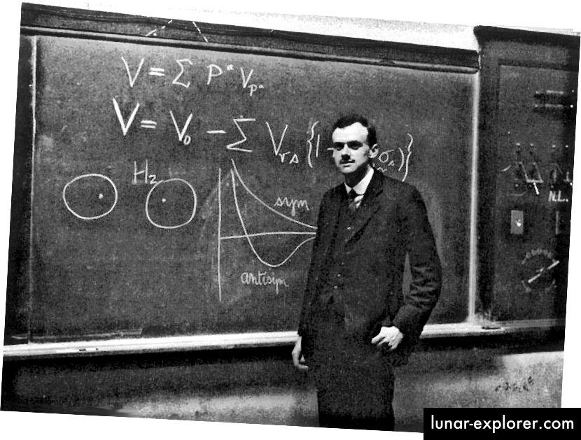 P.A.M. Dirac an der Tafel