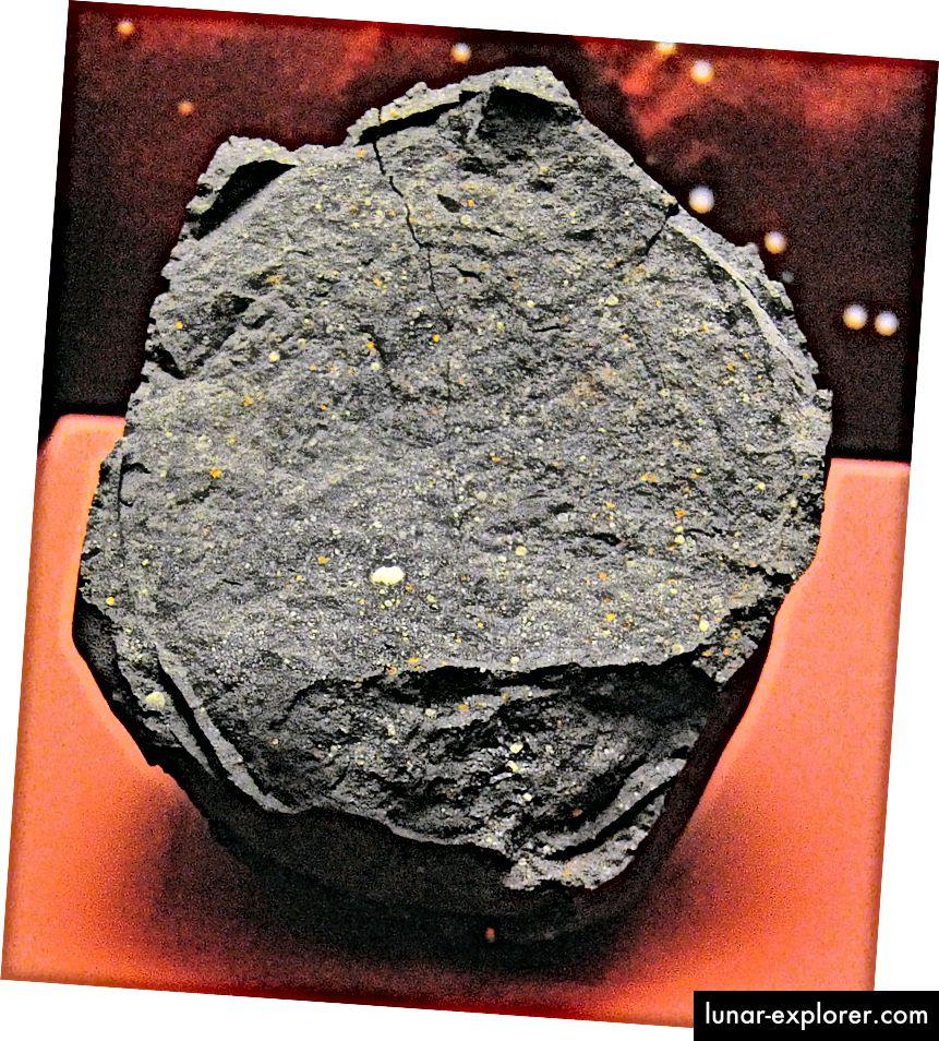 Unzählige Aminosäuren, die in der Natur nicht vorkommen, sind im Murchison-Meteoriten zu finden, der im 20. Jahrhundert in Australien auf die Erde fiel. Bildnachweis: Wikimedia Commons-Benutzer Basilicofresco vom Murchison-Meteoriten im National Museum of Natural History (Washington).