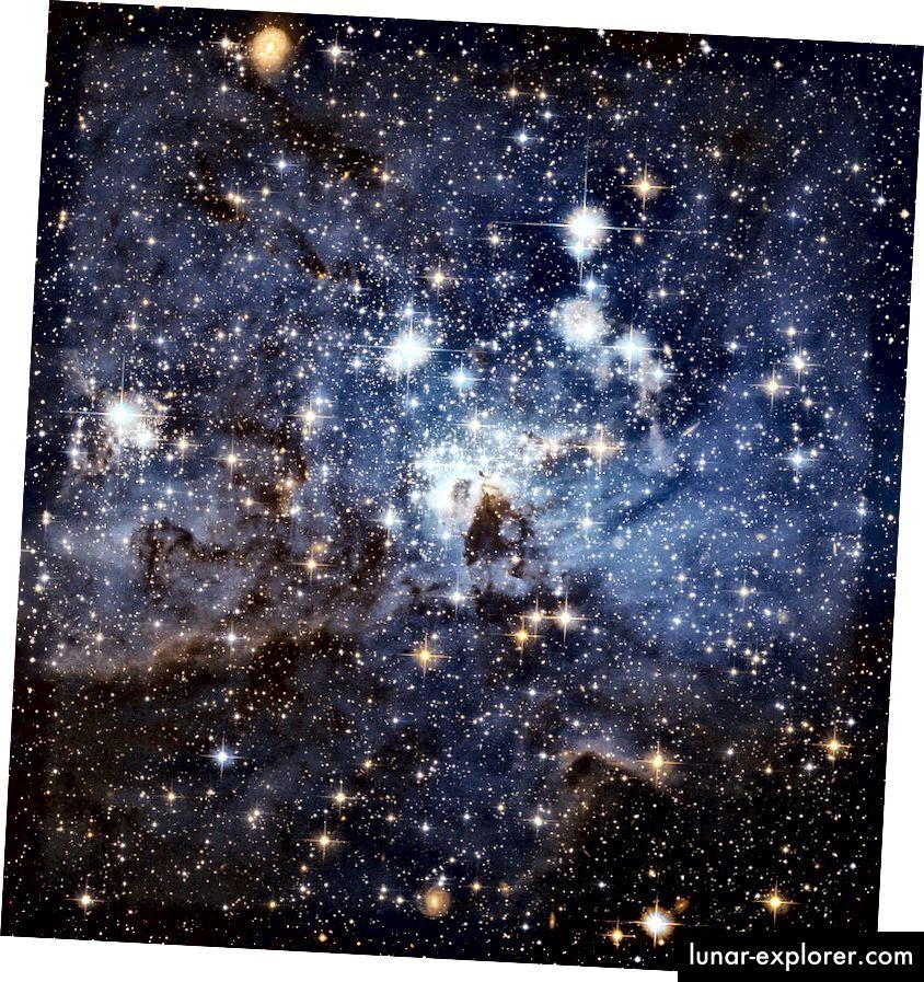 Eine Sternenkindertagesstätte in der Großen Magellanschen Wolke, einer Satellitengalaxie der Milchstraße. Bildnachweis: NASA, ESA und das Hubble Heritage Team (STScI / AURA) - ESA / Hubble Collaboration.