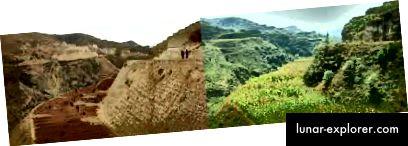Lössplateau, China (zuvor 1995; danach 2005) mit Genehmigung des Environmental Media Project und von John Dennis Liu