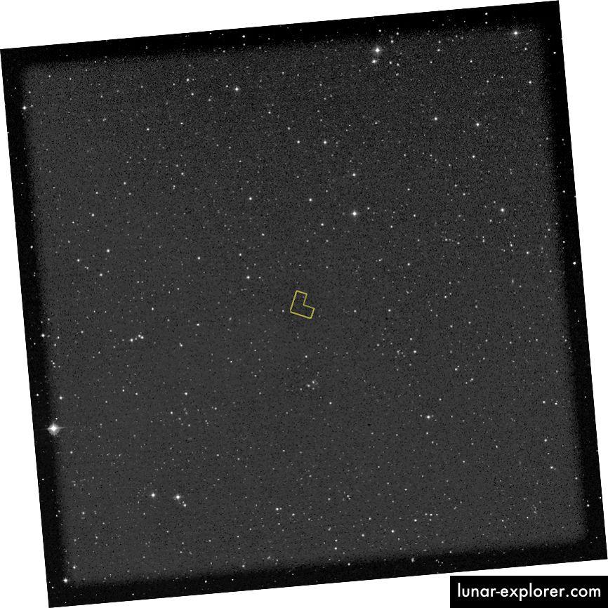 Die Region, die für das ursprüngliche Hubble Deep Field-Bild ausgewählt wurde. Bildnachweis: NASA.