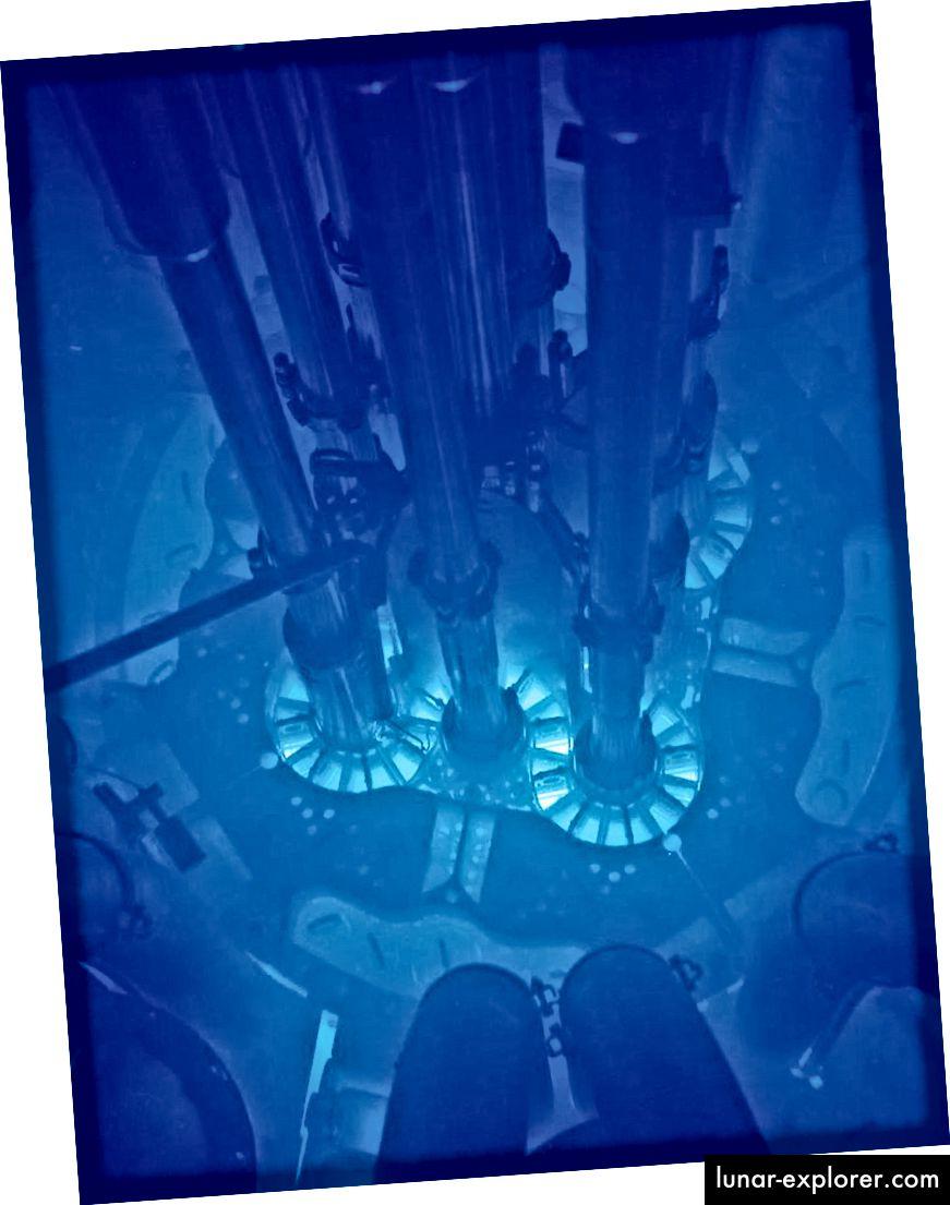 Der Kern des Advanced Test Reactor, Idaho National Laboratory. Bildnachweis: Argonne National Laboratory.