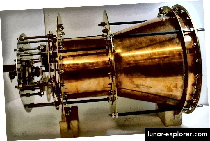 صورة EMdrive ، والتي تدعي أنها تنتهك قوانين الفيزياء المعروفة. صورة الائتمان: SPR ، المحدودة ، من EMdrive.