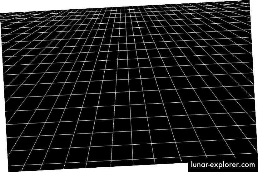 Eine Darstellung eines flachen, leeren Raums ohne Materie, Energie oder Krümmung jeglicher Art. Bildnachweis: Amber Stuver aus ihrem Blog Living Ligo unter http://www.livingligo.org/.
