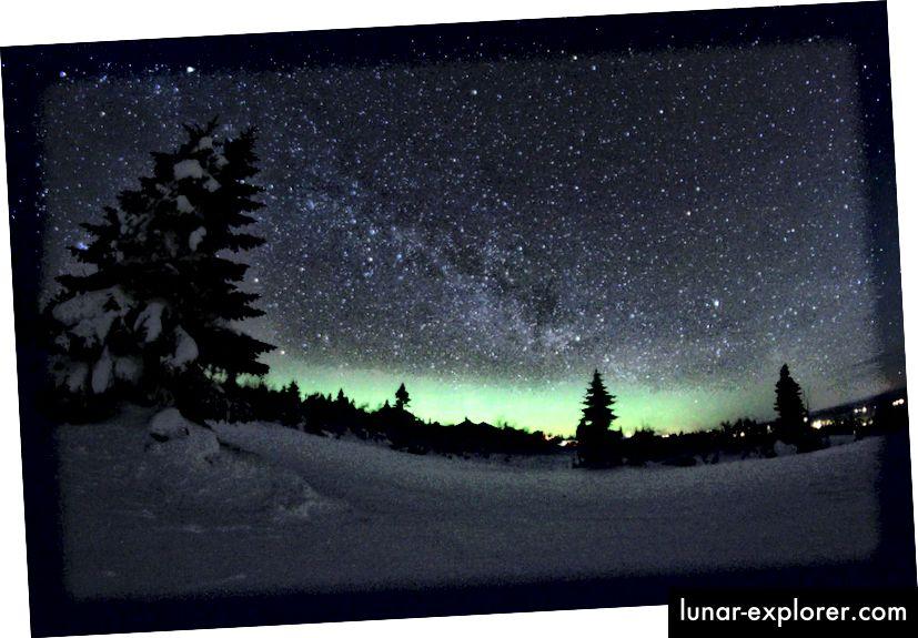 Der nächtliche Himmel, wie von Trysil, Norwegen gesehen. Bildnachweis: flickr-Benutzer Timothy Boocock, unter einem c.c.-by-s.a. 2.0 Lizenz.