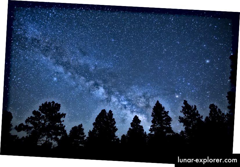 Der Nachthimmel vom California Coastal National Monument aus gesehen, ähnlich dem, was menschliche Augen idealerweise sehen konnten. Bildnachweis: Bureau of Land Management, unter einer CC-by-2.0-Lizenz.