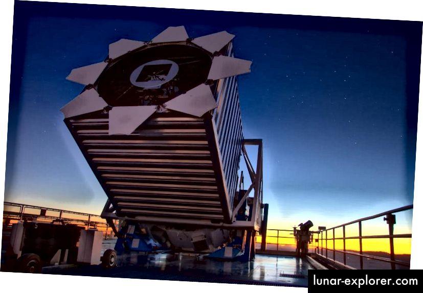 Das Sloan Digital Sky Survey-Teleskop. Bildnachweis: David Kirkby.