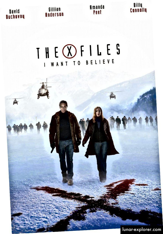 Das Filmplakat aus dem X-Files-Film 2008. Bildnachweis: Twentieth Century Fox / Zehn Dreizehn Produktionen / Dune Entertainment III.