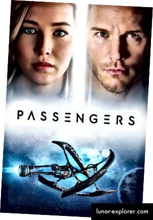 Filmplakat für Passagiere (2016). Verdammt, sieh dir das Schiff an.