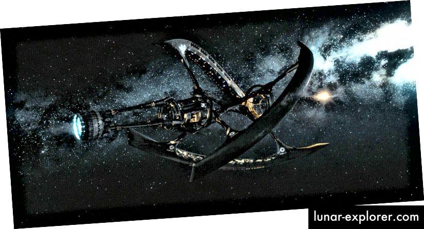 Der Avalon, eines meiner Lieblings-Hollywood-Raumschiffe für Science-Fiction.
