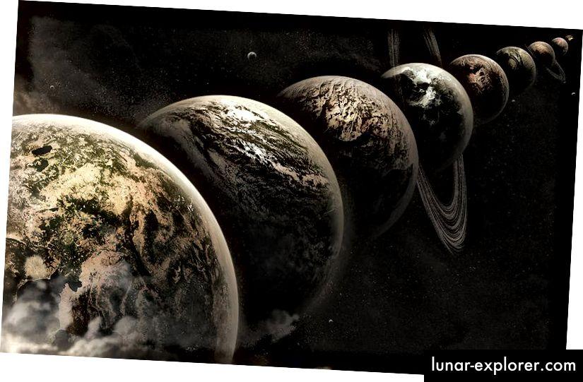 Ein Beispiel für Parallelwelten oder alternative Ergebnisse für eine Welt, die mit unseren Anfangsbedingungen geschaffen wurde. Bildnachweis: Lee Davy / flickr.
