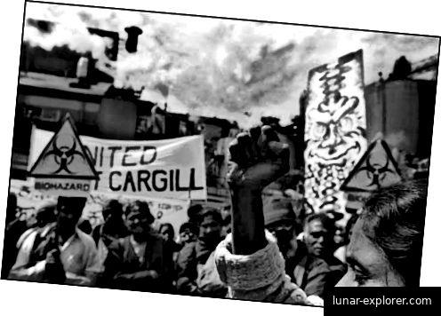 Protest gegen patentierte Cargill-Hybriden in den 1990er Jahren