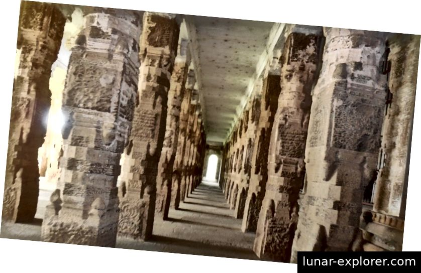 1000 stupskih dvorana u hramu Chidambaram, Tamil Nadu