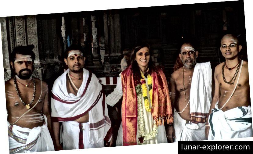 Seemann mit Chidambaram Deekshidhars (Tempelpriester)