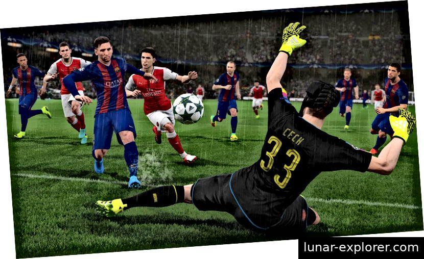 Ein Screenshot aus dem Spiel PES