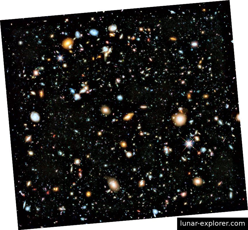 Hubble Ultra Deep Field Image - jeder dieser Punkte ist eine Galaxie