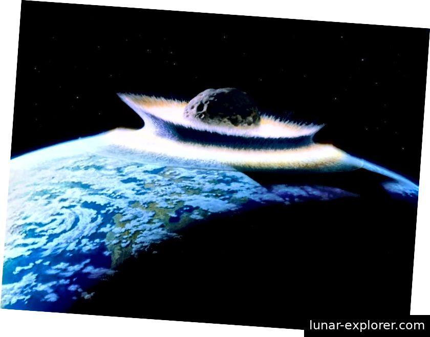 Komet ili asteroid koji je pogodio Zemlju jer nije dovoljno brzo otkrivena jedna je od najvećih prirodnih prijetnji čovječanstva i potencijalno bi mogla biti još gora od događaja izumiranja prije 65 milijuna godina. Bez obzira na to jesu li ovi događaji izumiranja periodični ili ne, dugo je bilo sporno. No nova je analiza možda ovo spekulativno područje znanosti konačno ostavila u mirovanju. (NASA / Don Davis)