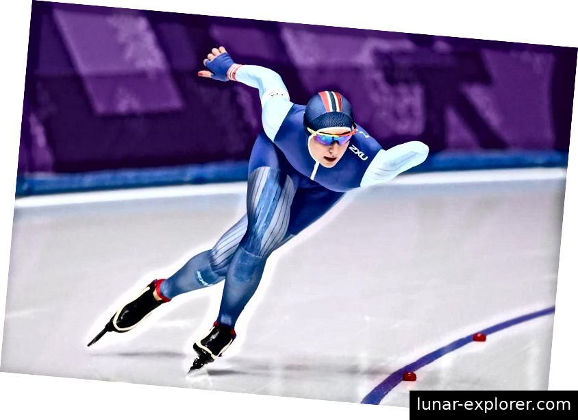 Ida Njatun iz Norveške natjecala se u finalu Ladies 1.500m speed klizanje u trećem danu zimskih olimpijskih igara PyeongChang 2018. Nije imala medalju. (Ronald Martinez / Getty Images.)