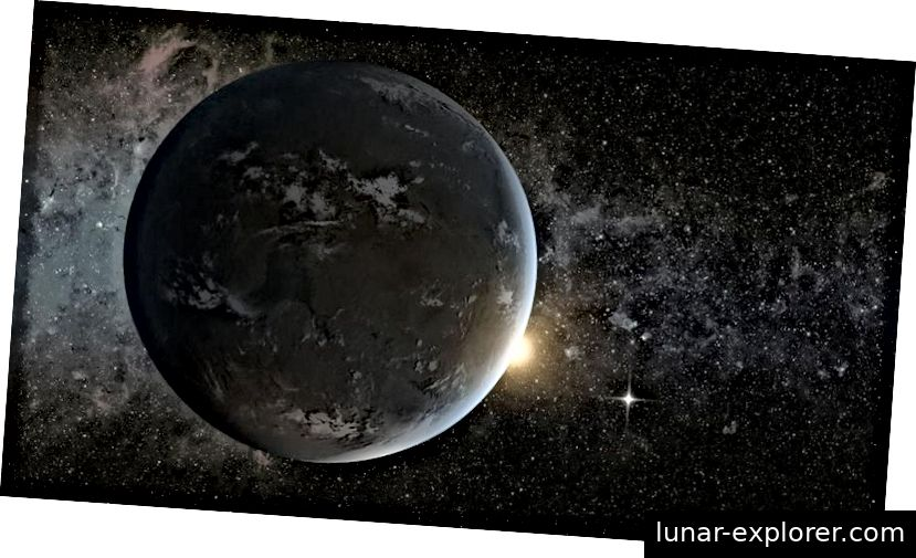 Egy művésznek átadott egy potenciálisan életképes exoplanet bolygón, amely egy napszerű csillagot kering. A WFIRST az egyik legjobb fogadás, hogy megismerjük az Univerzumot és az azon belüli bolygókat, amelyek hasonlóak lehetnek a Földhez és más Naprendszer világához. A 2019. pénzügyi év 2019. évi költségvetési javaslata, amelyet a Trump adminisztráció éppen kiadott, nemcsak a NASA Földtudományi Misszióit és az Oktatási Irodát öli meg, hanem befejezi a NASA 2020-as évek kiemelt küldetését. (NASA Ames / JPL-Caltech)