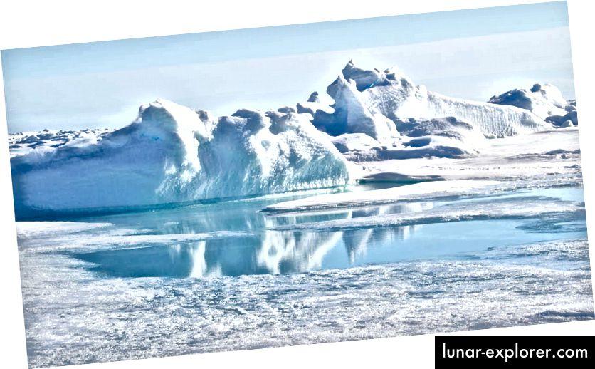 Arktik obično ne izgleda ovako, upozorenje većina gledatelja možda neće razumjeti ovu sliku.