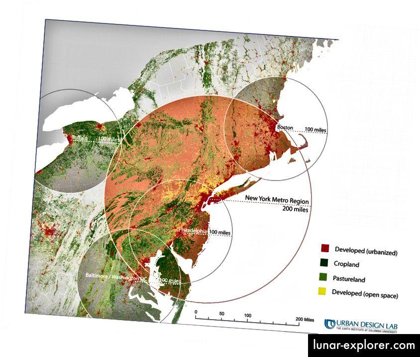 Čini se da su centri za učenje smješteni u gradovima u kojima je potrebna regenerativna praksa.