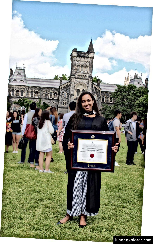 Lina Elfaki, IMS MSc-Studentin an der Universität von Toronto. (Die in diesem Artikel verwendeten Fotos wurden von Lina Abdullatif zur Verfügung gestellt.)