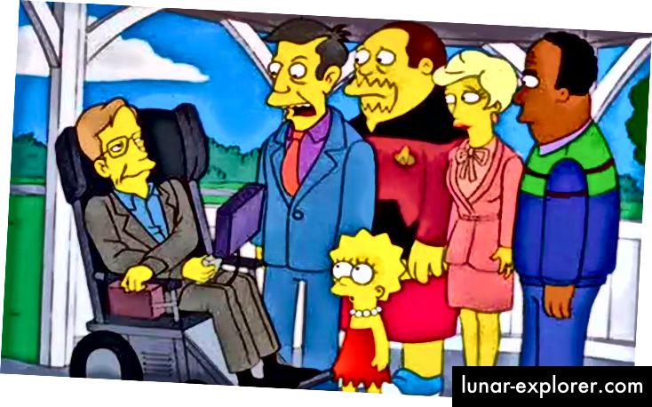 Stephen Hawking war zum ersten Mal in The Simpsons in