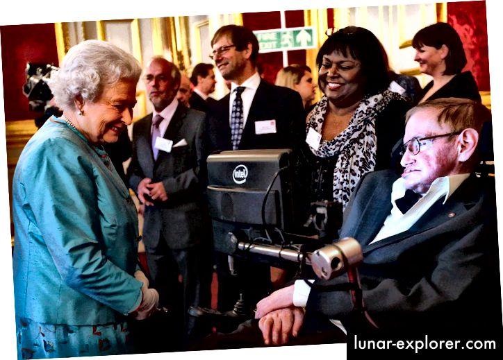 Stephen Hawking s Elizabetom II