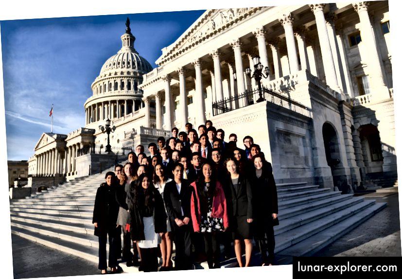 Die Finalisten der Regeneron Science Talent Search 2018 auf dem Capitol Hill.